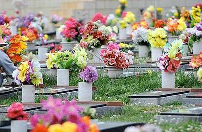 i fiori al cimitero